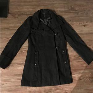 Top shop women black pea coat